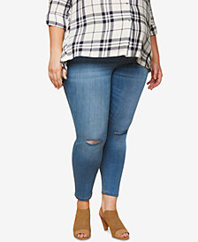 Motherhood Maternity Plus Size Medium Wash Skinny Jeans