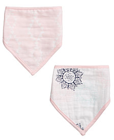 aden by aden + anais Baby Girls 2-Pk. Cotton Printed Bandana Bibs