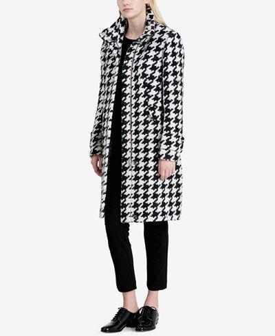 Calvin Klein Houndstooth Walker Coat
