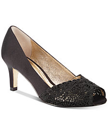 Adrianna Papell Jude Lace Peep-Toe Pumps