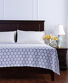 Tipped Honeycomb Plush Blanket
