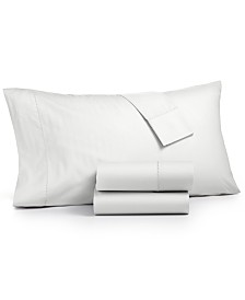 Martha Stewart Collection 3-Pc. Solid Twin Sheet Set, 400 Thread Count 100% Cotton Percale, Created for Macy's