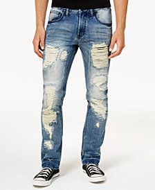 I.N.C. Men's Mega-Ripped Slim-Fit Jeans, Created for Macy's