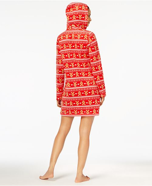 Sleepshirt Created Macy's Jenni Jennifer Leopard by Hooded Fleece Moore for qAaUXaYw