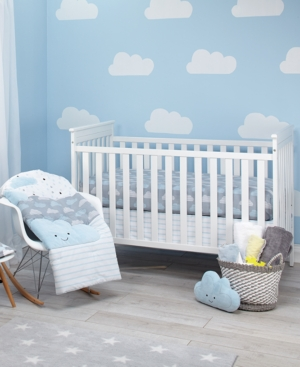 Little Love by NoJo Happy Little Clouds 5Pc Crib Bedding Set Bedding