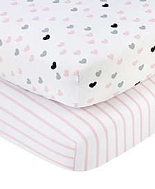 Hugs & Kisses Crib Sheet 2-Pack