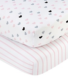 Nojo Hugs & Kisses Crib Sheet 2-Pack