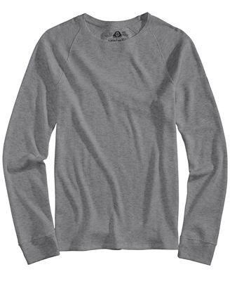 American Rag Men's Thermal Long Sleeve Shirt, Created for Macy's ...