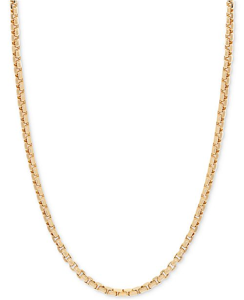 Italian Gold 24 Round Box Link Chain Necklace 1 1 2mm In 14k Gold Reviews Necklaces Jewelry Watches Macy S