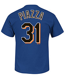 Majestic Men's Mike Piazza New York Mets Cooperstown Player T-Shirt