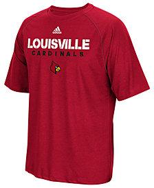 adidas Men's Louisville Cardinals Sideline Climalite T-Shirt