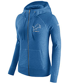 Nike Women's Detroit Lions Gym Vintage Full-Zip Hoodie