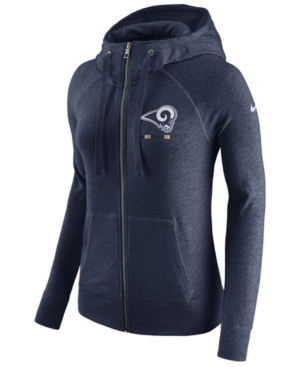 UPC 887229426527 product image for Nike Women's Los Angeles Rams Gym Vintage Full-Zip Hoodie | upcitemdb.com