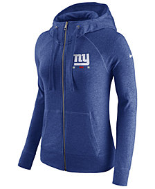 Nike Women's New York Giants Gym Vintage Full-Zip Hoodie