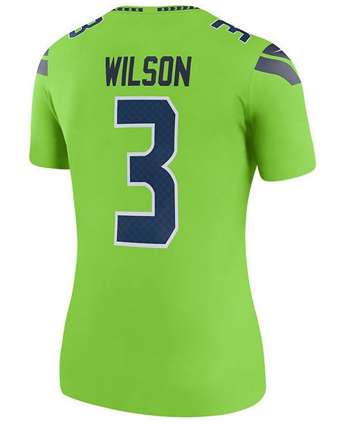 876fdc1ad7c ... Nike Women's Russell Wilson Seattle Seahawks Color Rush Legend Jersey  ...