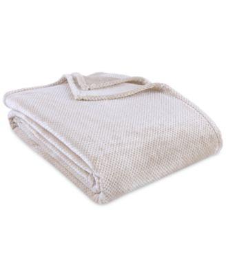 VelvetLoft Textured Honeycomb Twin Blanket