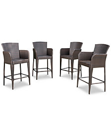 Dyxon Bar Stool (Set of 4), Quick Ship