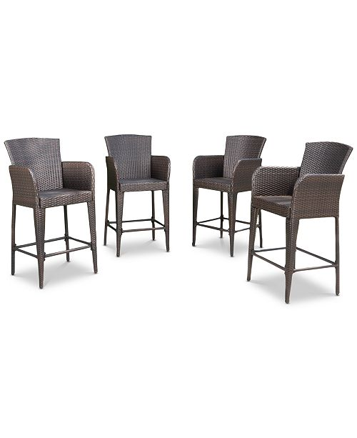 Admirable Dyxon Bar Stool Set Of 4 Quick Ship Gamerscity Chair Design For Home Gamerscityorg
