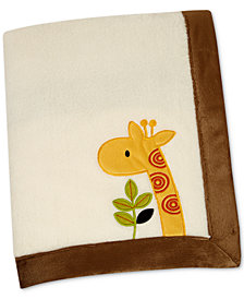 NoJo Zoobilee Embroidered Appliqué Fleece Blanket