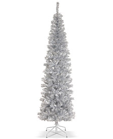 National Tree Company 6' Silver Tinsel Tree With Metal Stand