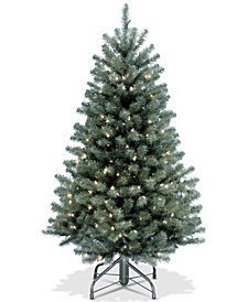 National Tree Company 4.5' North Valley Blue Spruce Tree With 300 Clear Lights
