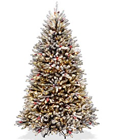 6.5' Dunhill® Fir Tree With Snow, Red Berries, Pine Cones & 650 Clear Lights