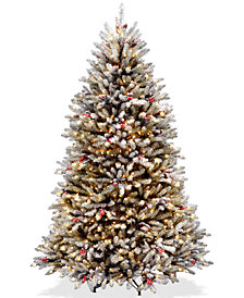 National Tree Company 6.5' Dunhill® Fir Tree With Snow, Red Berries, Pine Cones & 650 Clear Lights