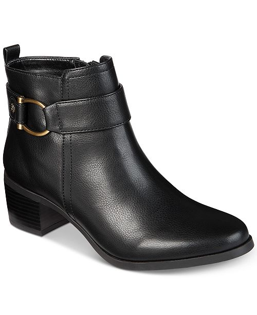 best price on feet images of cheaper Anne Klein Jeannie Ankle Booties & Reviews - Boots - Shoes ...