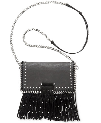 Anna Sui x INC International Concepts Fringe Embellished Chain Crossbody, Created for Macy's