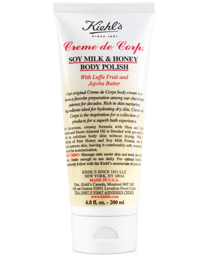 Kiehl's Since 1851 Creme de Corps Soy Milk & Honey Body Polish, 6.8-oz. & Reviews - Shop All Brands - Beauty - Macy's