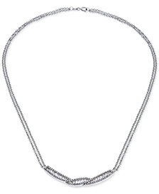 Giani Bernini Cubic Zirconia Baguette Collar Necklace in Sterling Silver, Created for Macy's