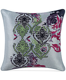 "Tracy Porter Iris Embroidered 16"" Square Decorative Pillow"