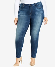 Trendy Plus Size High-Rise Jeans