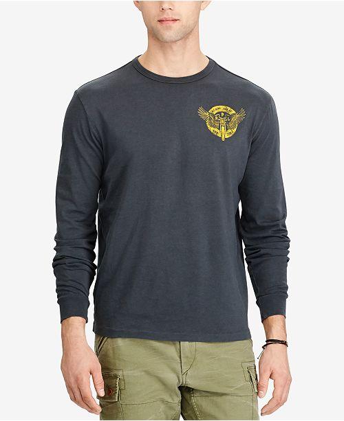 c488f4ea7c2d ... Polo Ralph Lauren Men's Custom Slim Fit Long-Sleeve T-Shirt ...