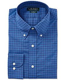 Lauren Ralph Lauren Men's Regular Fit Non-Iron Plaid Dress Shirt