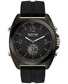 Kenneth Cole Reaction Men's Analog-Digital Sport Black Silicone Strap Watch 46mm