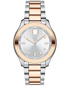 Movado Women's Swiss Bold Two-Tone Stainless Steel Bracelet Watch 38mm