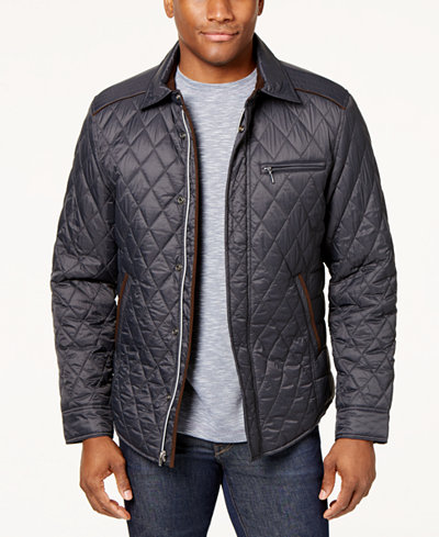 Tasso Elba Men's Quilted Jacket, Created for Macy's - Coats ... : quilted sweaters - Adamdwight.com