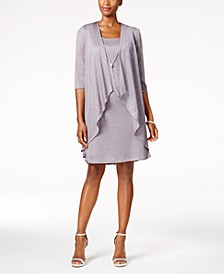 Shift Dress and Draped Jacket