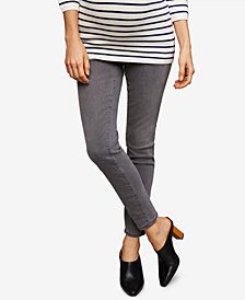 A Pea in the Pod Maternity Gray Wash Skinny Jeans