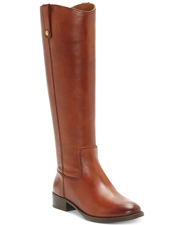 INC International Concepts INC Fawne Wide-Calf Riding Leather Boots , Created for Macy's
