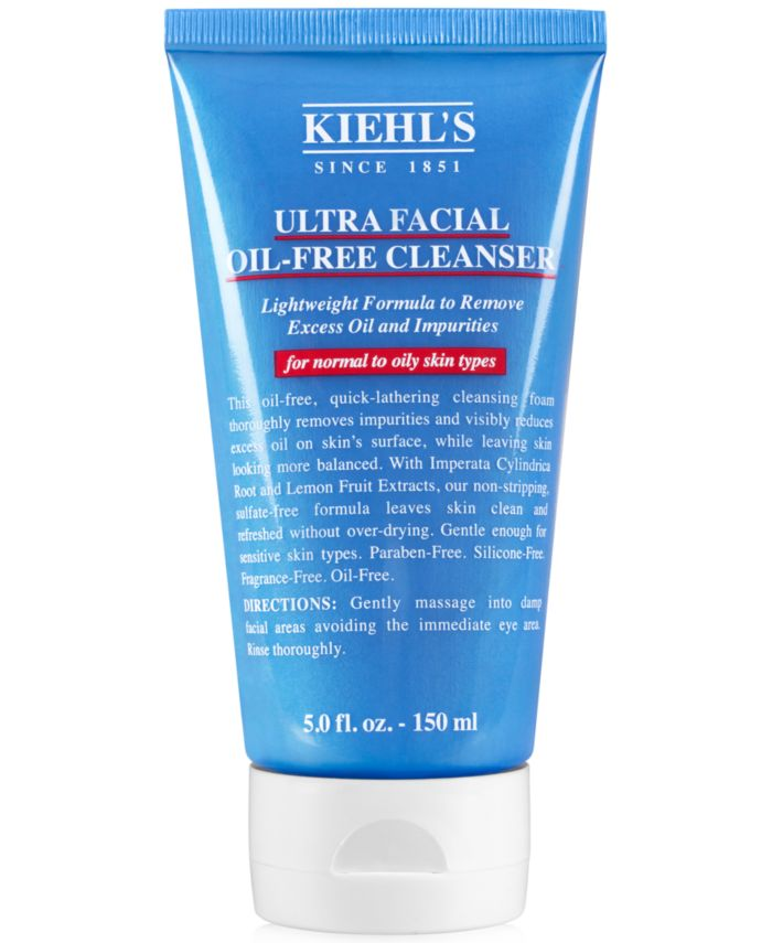 Kiehl's Since 1851 Ultra Facial Oil-Free Cleanser, 5-oz. & Reviews - Skin Care - Beauty - Macy's