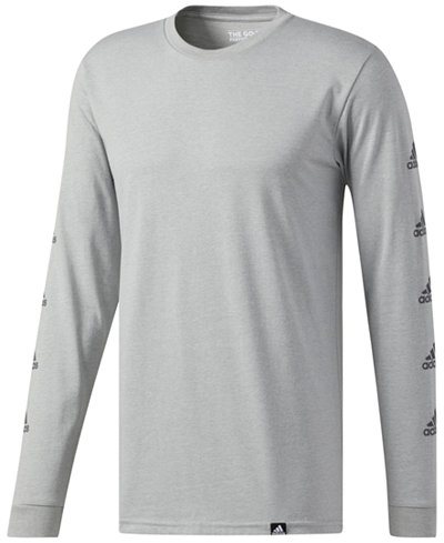 adidas Men's Mini Logo Long-Sleeve T-Shirt