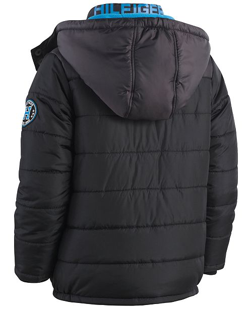 ad1dc523 Tommy Hilfiger Alexander Hooded Puffer Coat, Toddler Boys & Reviews ...