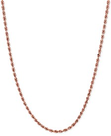 """20"""" Rope Necklace (1-3/4mm) in 14k Rose Gold"""