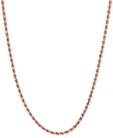 "20"" Rope Necklace (1-3/4mm) in 14k Rose Gold"