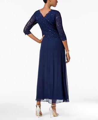 Alex Evenings Petite Sequin Lace Gown Dresses Petites Macys