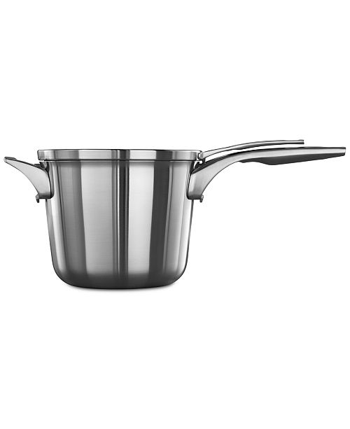 Calphalon Premier Space-Saving Stainless Steel 4.5-Qt. Saucepan & Lid
