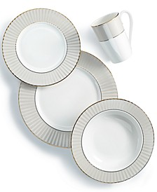 Pleated Colors Grey Dinnerware Collection