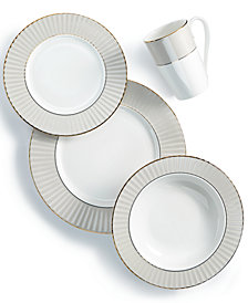 Lenox Pleated Colors Grey Dinnerware Collection